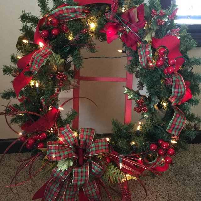 designer large christmas wreath front door pre lit - Large Christmas Wreath