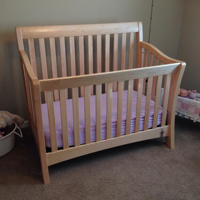 Find More Natural Wood Baby Cache Convertible Crib In Euc