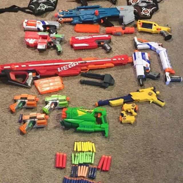 Selling all nerf guns in lot but would sell separate