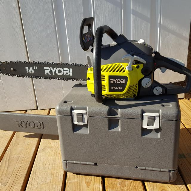 Find more ryobi 3716 16 inch 37cc 2 cycle gas chainsaw with heavy ryobi 3716 16 inch 37cc 2 cycle gas chainsaw with heavy duty case greentooth Images