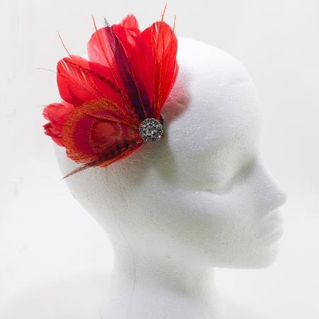 Handmade feather hair clip for sale  Canada