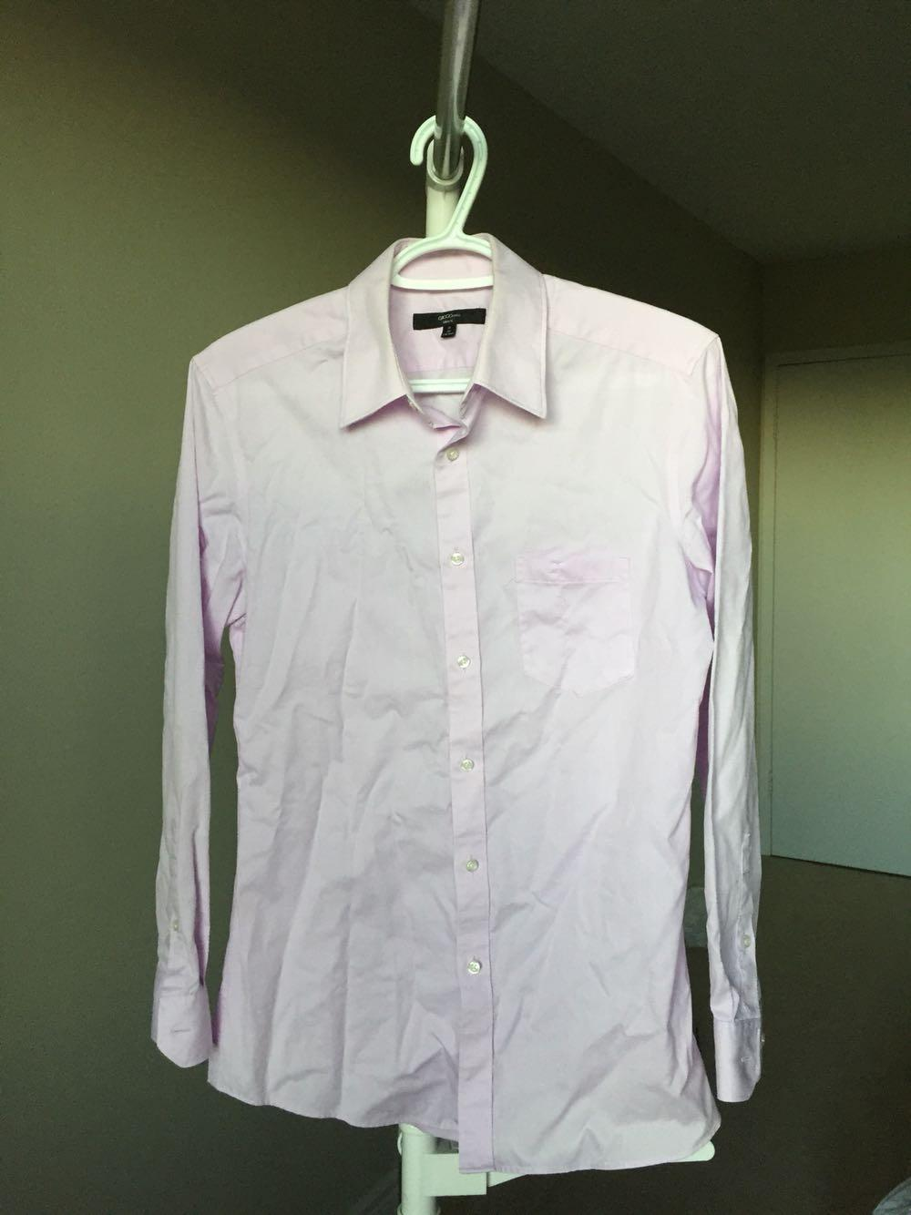 Best G2000 Mens Slim Fit Light Purple Dress Shirt 1532 For Sale