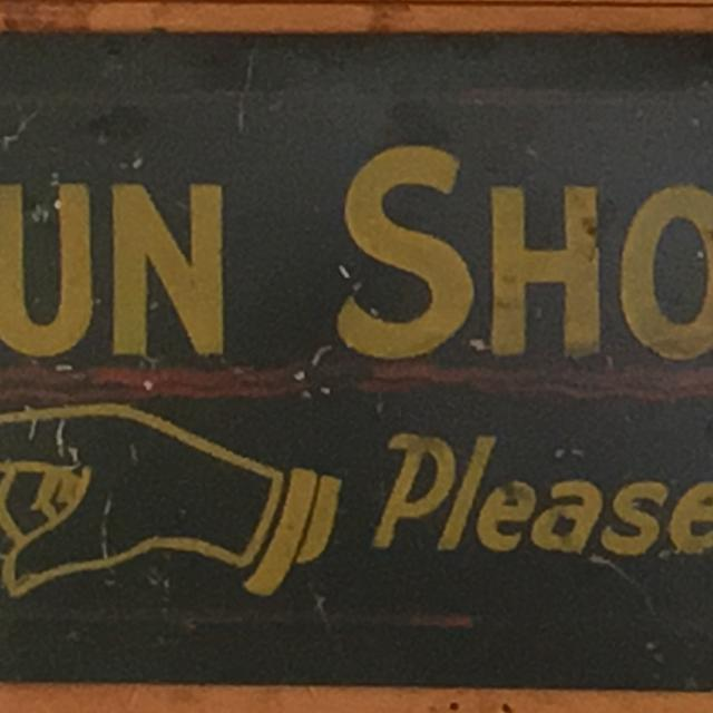 Find More Metal Gun Shop Sign For Sale At Up To 90 Off