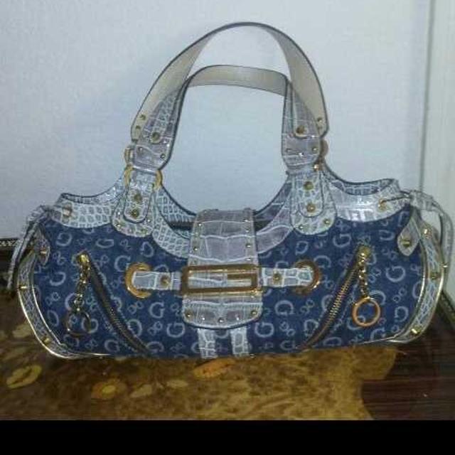 Guess Brand Denim Handbag