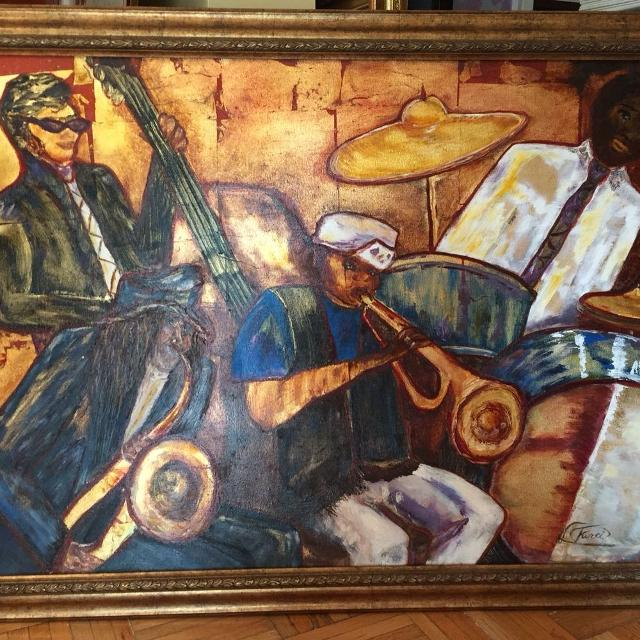 Best Cadres Musiciens Media Mixte Mixed Media Painting For Sale