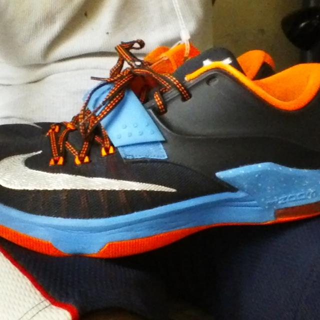 0456f34e38385 Best Nike Kd Vii 7 - Size 10.5 Kevin Durant Away Black Blue Orange Basketball  Shoes for sale in Yonkers
