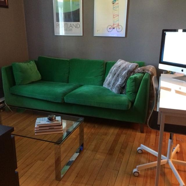 find more green ikea stockholm couch sofa for sale at up