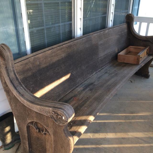find more antiqu church pew for sale at up to 90 off. Black Bedroom Furniture Sets. Home Design Ideas