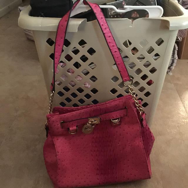 b2e57f1bdc4fa9 Best Michael Kors Bright Pink Bag. Price Dropped Again for sale in Pensacola,  Florida for 2019
