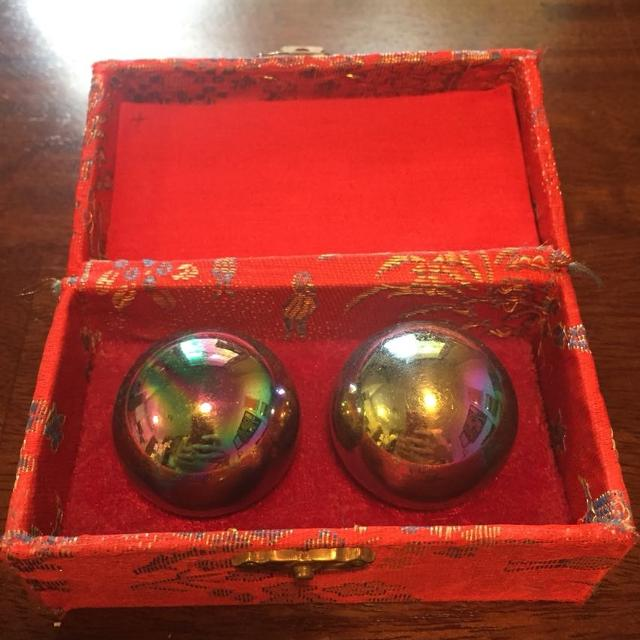 Meditation balls in Asian inspired box