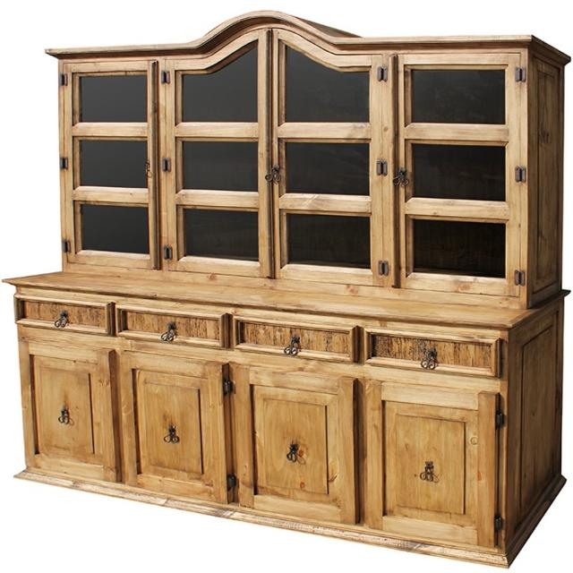 Best Rustic Pine Sideboard And Hutch China Cabinet For Sale In Metairie Louisiana For 2018