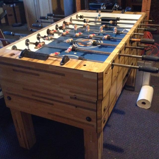 Best Antique Solid Wood Foosball Table In Excellent Condition For - Antique foosball table for sale