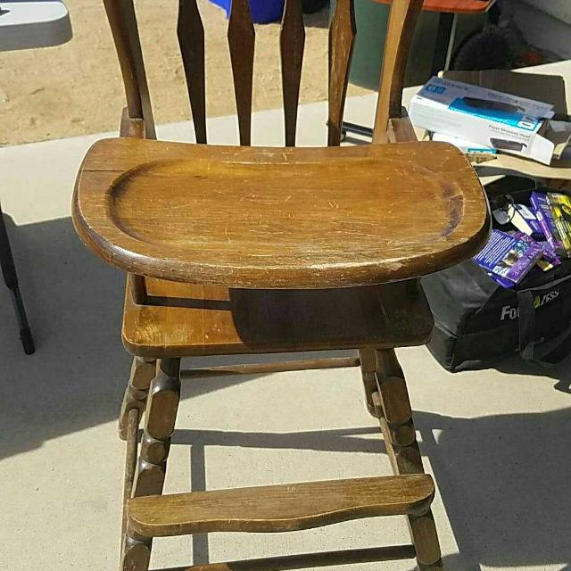 Best Wooden Antique Baby High Chair For Sale In Victorville