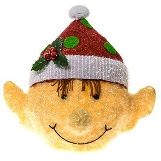 Santa Hat Christmas Tree Topper: Best Nib Christmas Elf Head Santa Hat Tree Topper Large 15