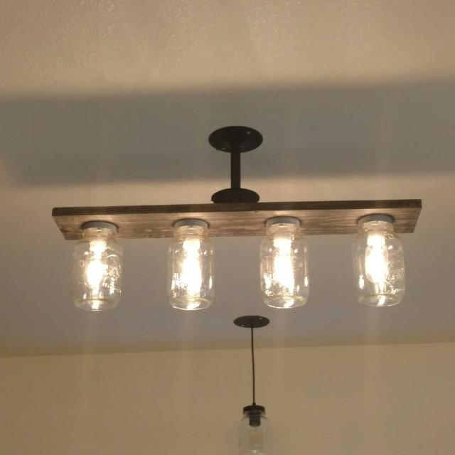 Best 4 light mason jar ceiling light fixture for sale in new 4 light mason jar ceiling light fixture aloadofball Image collections