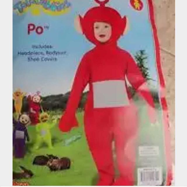 wanted red teletubbies halloween costume