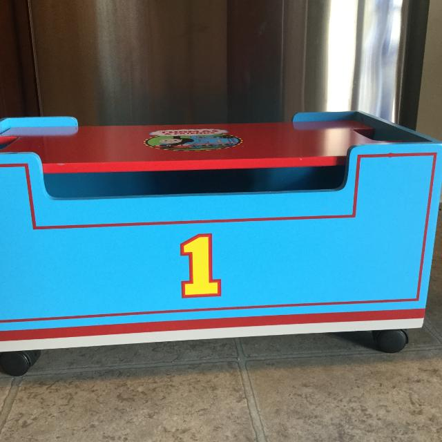 Thomas The Train Wooden Storage Box From Lift And Load Set