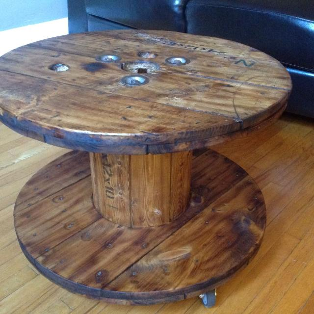 Find more electrical spool coffee table for sale at up to for Table 6 ontario electrical code