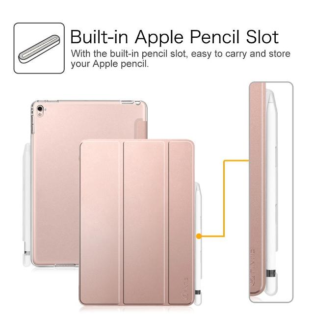 size 40 3ab28 bcd0a iPad Pro 9.7 Case with Built-in Apple Pencil Holder - Fintie Slim Smart  Shell Standing Cover with Translucent Frosted Back Protector Auto Wa