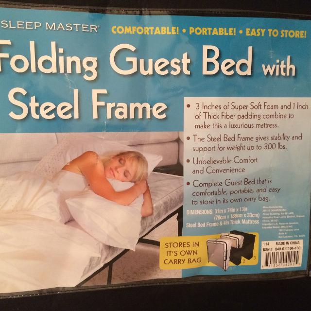 Find More Sleep Master Folding Guest Bed With Steel Frame For Sale