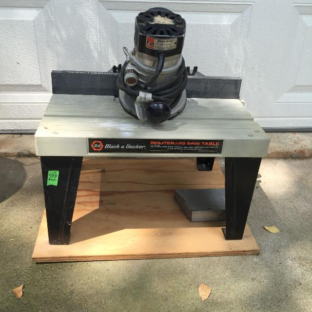 Black Decker Router And Jigsaw Table