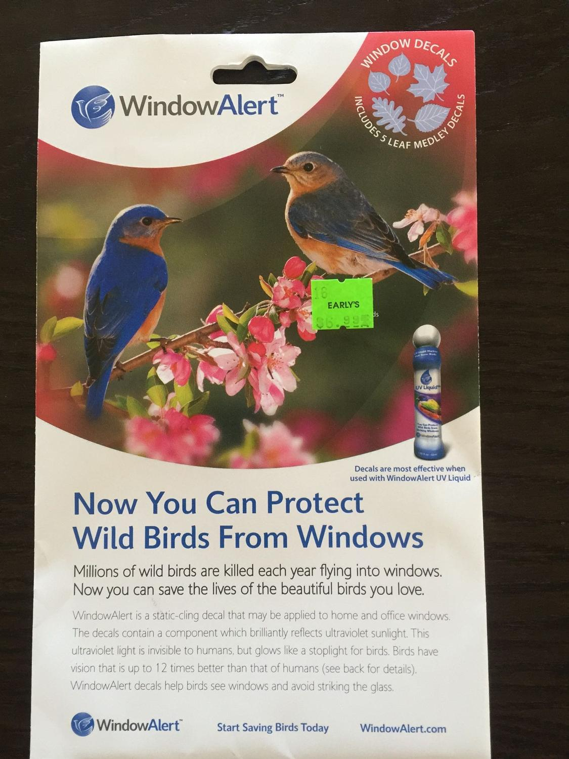 Find More Window Alert Decals For Sale At Up To Off - Invisible window decals for birds