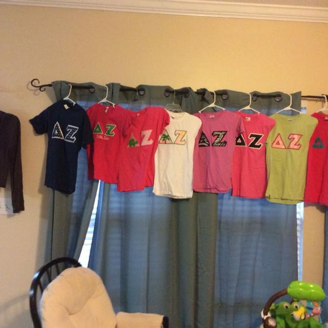 Best Delta Zeta Items  8 Letter Shirts,19 T-shirts, 1 Brown