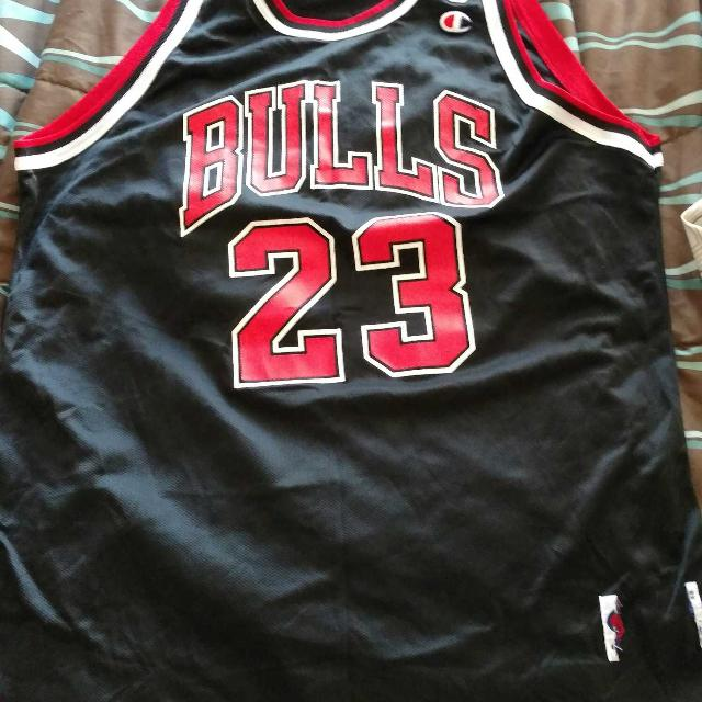 new product 8589d d3181 Men's Champion MJ 23 Chicago Bulls Jersey