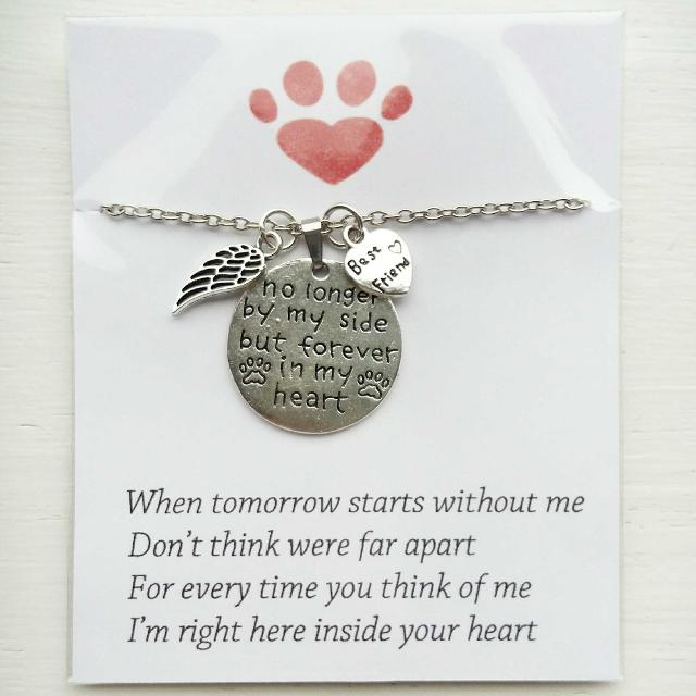 Memorial necklace for pet dog