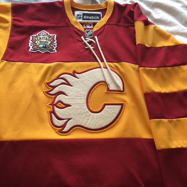 new products 2e17f d1dee Reebok Calgary Flames Heritage Classic jersey HUGE PRICE DROP