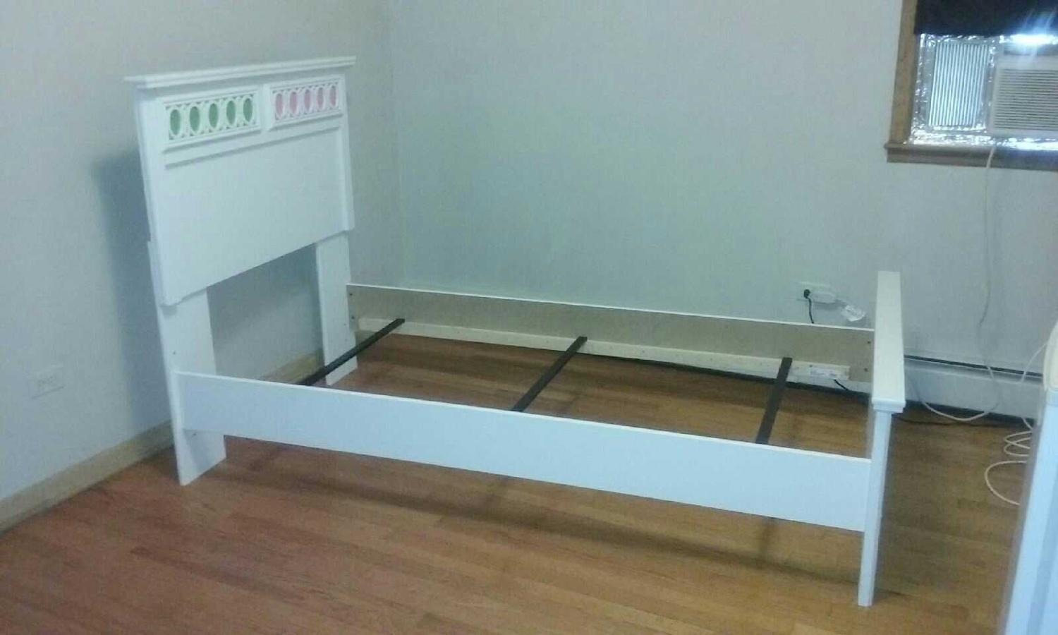 Girls White Twin Bed