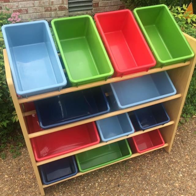 Find more Battat Wooden Toy Organizer (4) Shelves With 12 Bins for