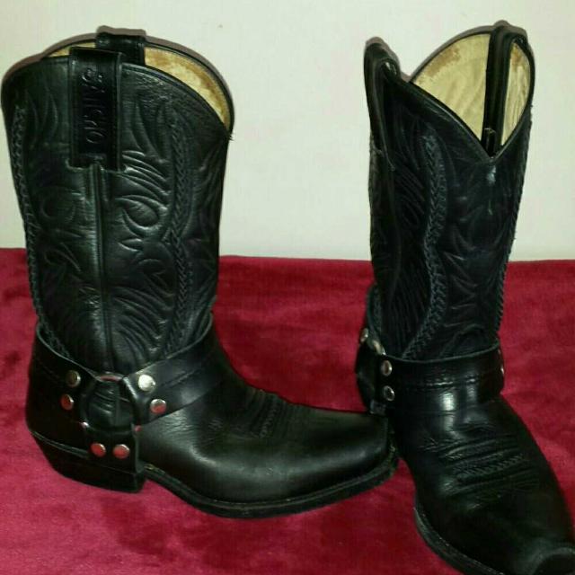 8ce2fa6dabf Sancho Leather Cowboy Boots