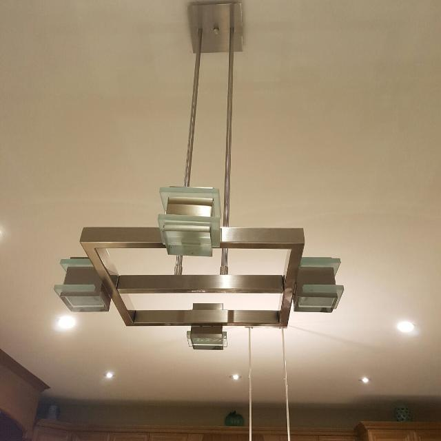 Modern Chandelier Over The Counter Lights