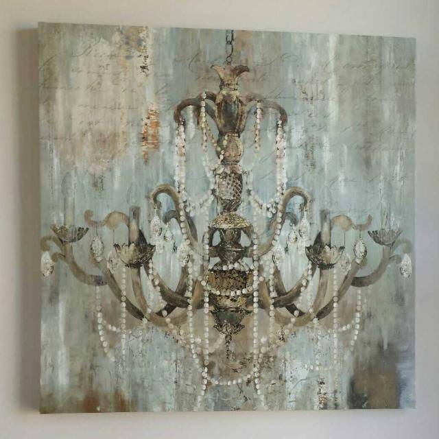 Find more Bouclair Huge Chandelier Canvas Art for sale at up to 90 ...