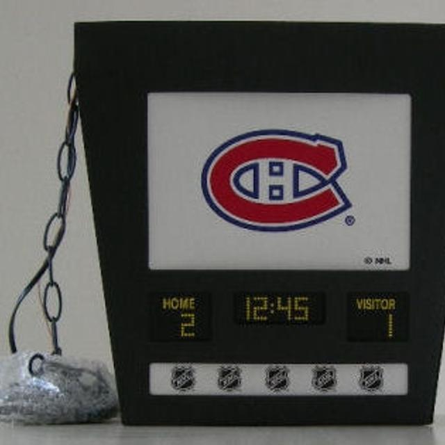 Brand New Hockey Scoreboard Ceiling Light Montreal Canadiens