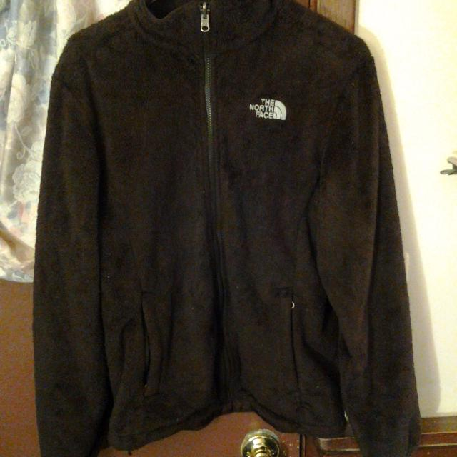 23c1199c8 Women's The North face Fuzzy zip-up jacket size large Cross posted dark  brown