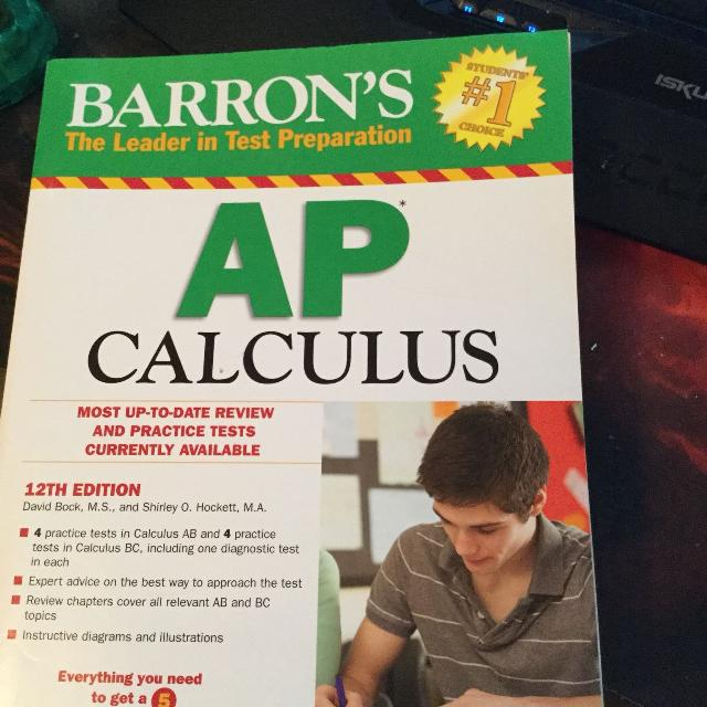 Barron's app calculus test prep book 12th ed