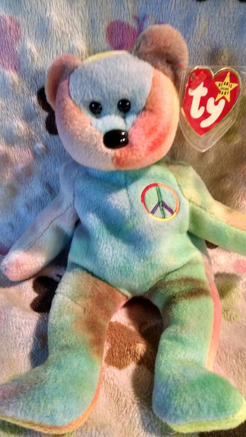 best ty beanie baby rare peace bear for sale in sioux falls south dakota for 2018. Black Bedroom Furniture Sets. Home Design Ideas