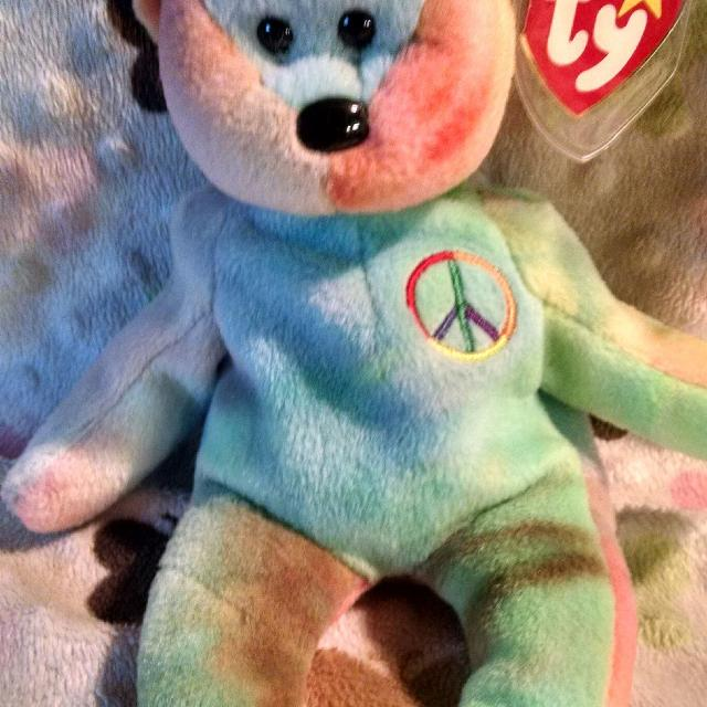 b77a7098b0f Best Ty Beanie Baby ! ! ! -rare-   Peace Bear   ! ! ! for sale in Sioux  Falls