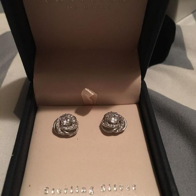 6fd65daee Find more Contessa Di Capri Sterling Silver And Crystal Earings for ...