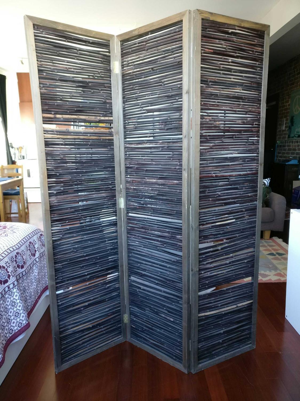 Best Room Divider Dark Wood Bamboo For