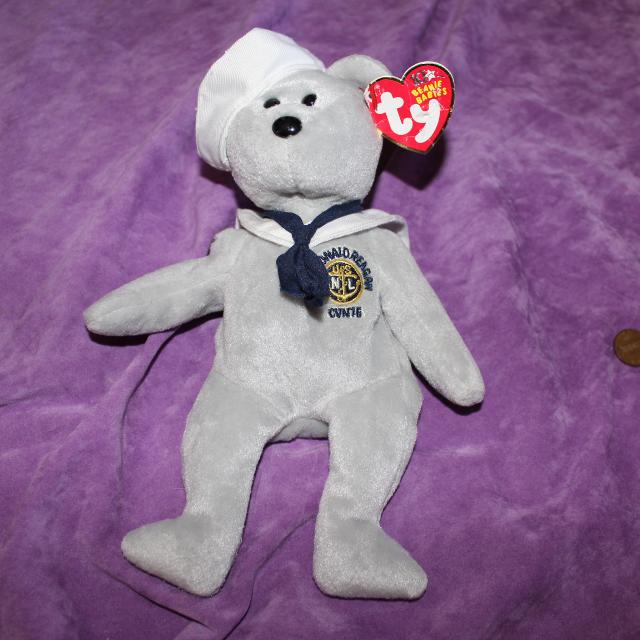 69d4461194d Best   Ty Ronnie Ronald Reagan Sailor Beanie Baby for sale in Dekalb  County