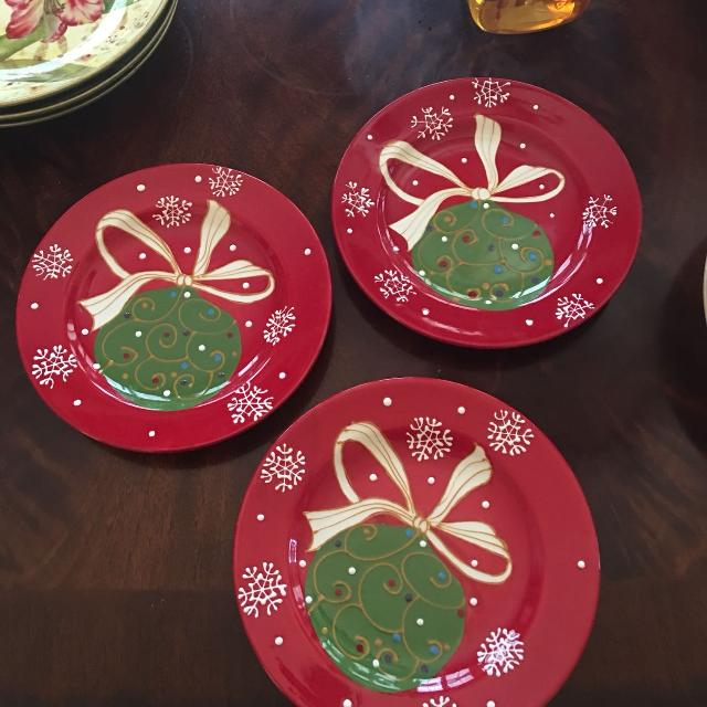 3 decorative christmas plates from pier 1 85x85