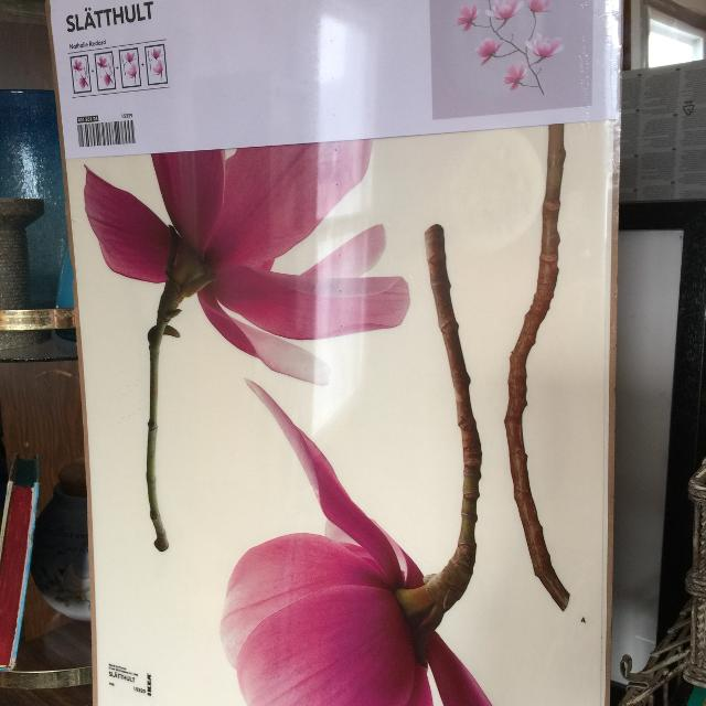 find more ikea slatthult magnolia blossoms wall decals-bnip for sale