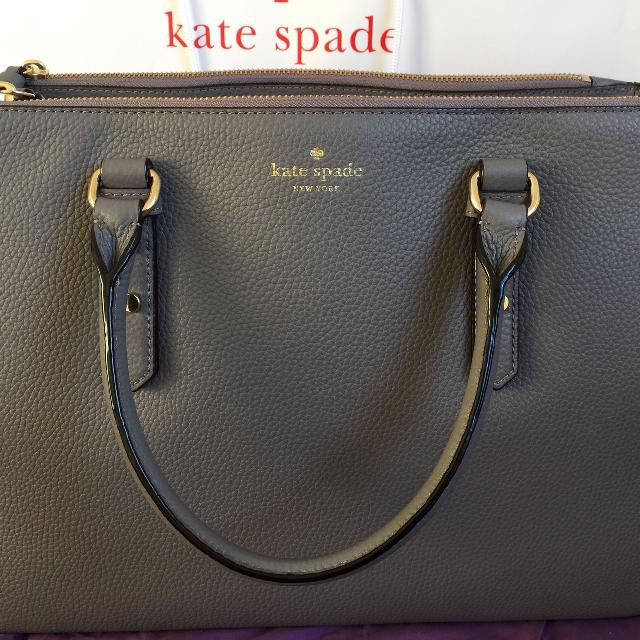 Best Nwt Authentic Kate Spade Leighann Mulberry Street Leather Satchel tote  Purse for sale in Clarington 92b1615312b09