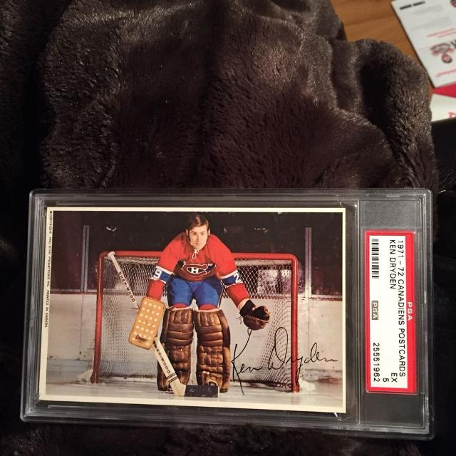 Ken Dryden Rookie Post Card Psa Graded Crazy Rainy Day Price