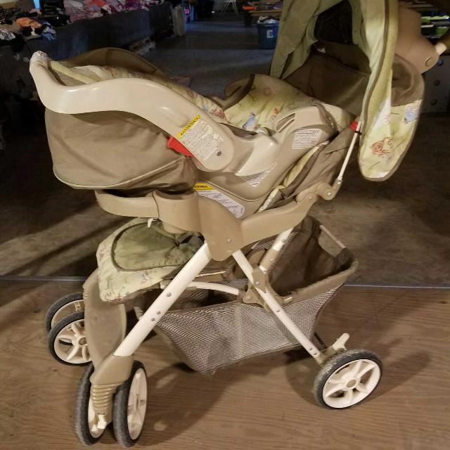 Winnie The Pooh Infant Car Seat And Stroller