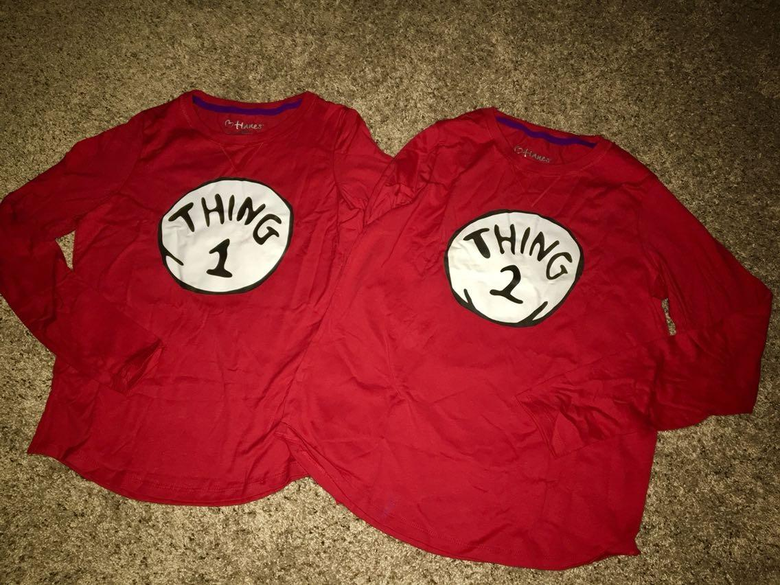 Find More Halloween Custom Made Thing 1 Thing 2 Long Sleeve Shirts
