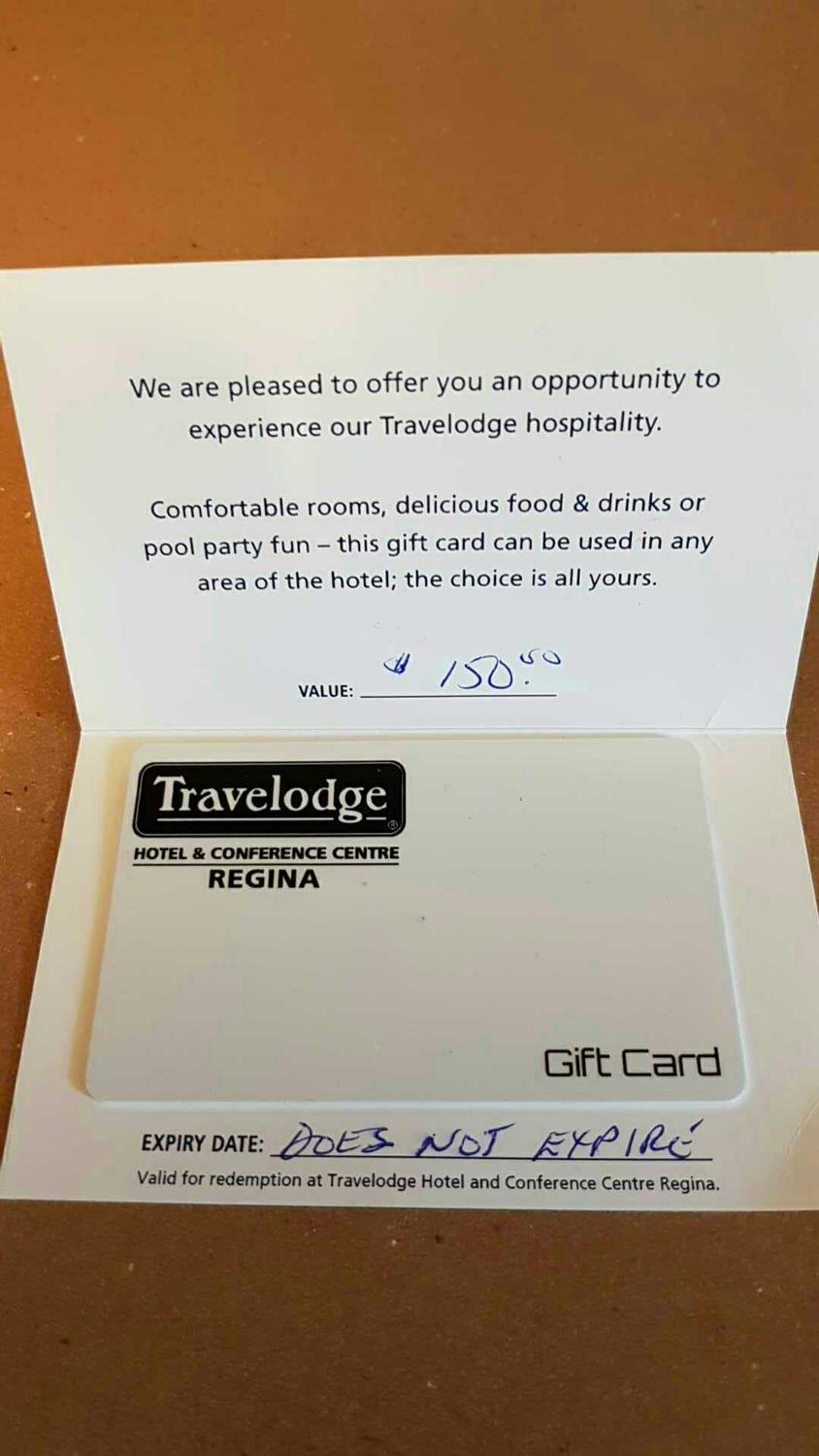 Find more travelodge regina gift card for sale at up to 90 off colourmoves